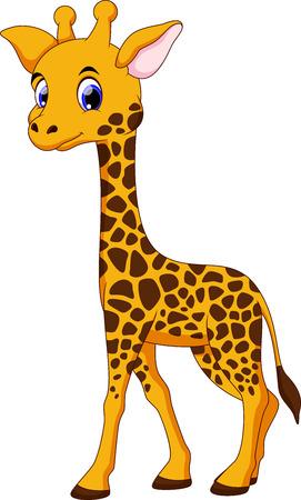 Linda jirafa de dibujos animados