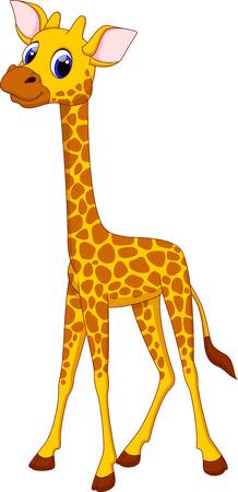 Nette Giraffe cartoon