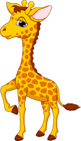 Schattig giraffe cartoon