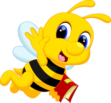 Cute bee cartoon Stock fotó - 33888047