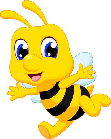 abeja reina: Linda abeja de la historieta Vectores