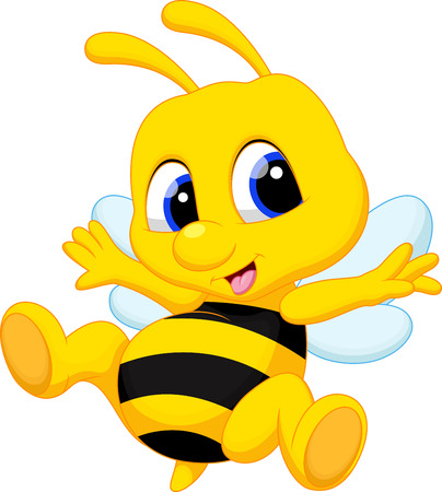 Cute bee cartoon Stock Vector - 33888080