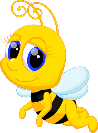 bee: Симпатичный мультфильм пчела