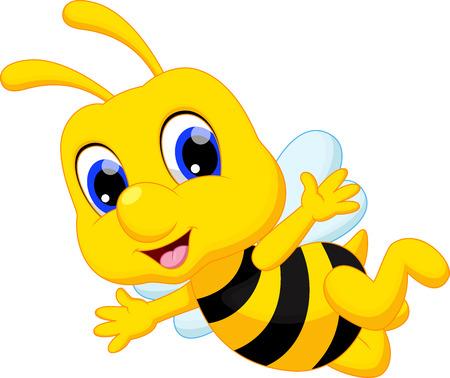 cute graphic: Cute bee cartoon