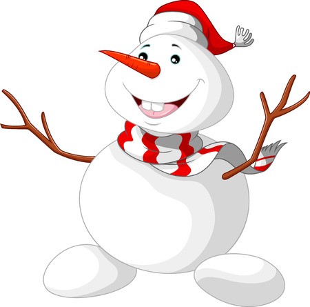 snowman cartoon: Christmas Snowman cartoon