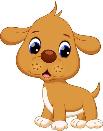 puppy cartoon: Cute puppy cartoon