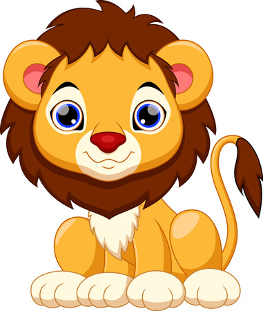 comic baby: Cute lion cartoon Illustration