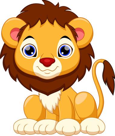 Cute lion cartoon Stock Illustratie