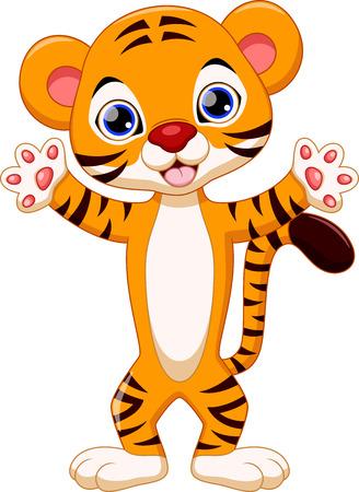 Cute tiger cartoon Ilustrace