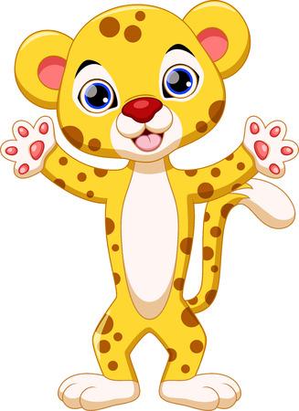 jaguar: Guepardo lindo de dibujos animados Vectores