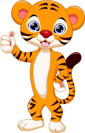 Cute tiger cartoon Vectores