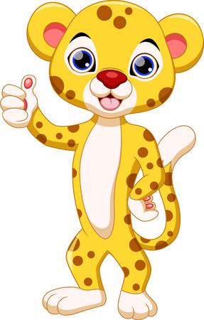 dexterous: Cute cheetah cartoon