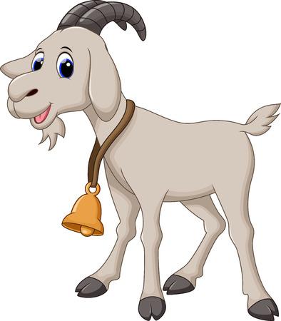comic characters: Cute goat cartoon Illustration