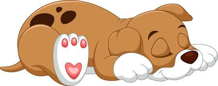 Cute puppy spania kreskówki Ilustracje wektorowe