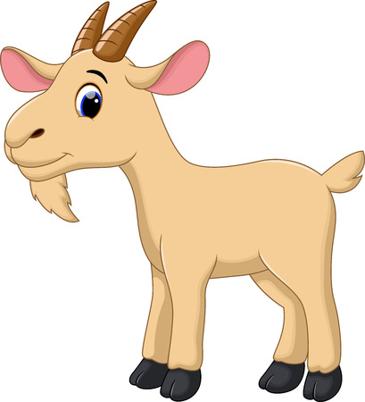 Cute goat cartoon Vectores