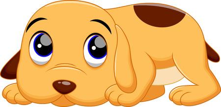 drooling: Cute dog cartoon