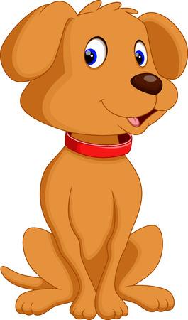basset: Cute dog cartoon