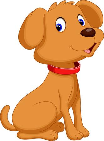 dog isolated: Cute dog cartoon