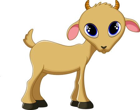 kid goat: Cute goat cartoon Illustration