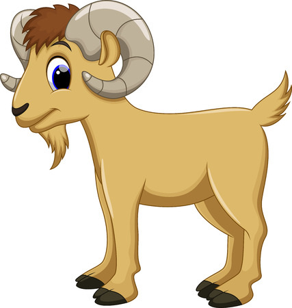 billy goat: Cute goat cartoon Illustration