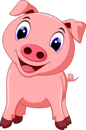 cute pig: Cute pig cartoon
