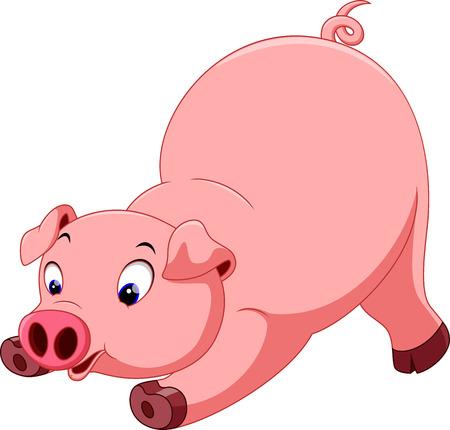 pig cartoon: Cute pig cartoon