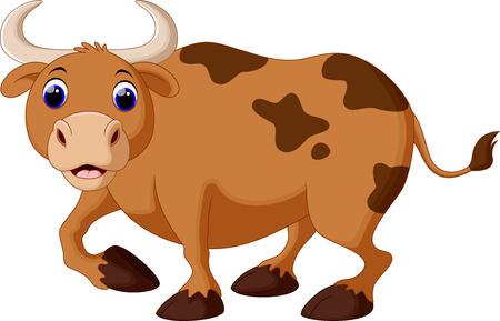 moo: Cute cow cartoon Illustration
