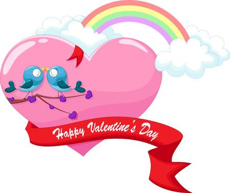 Two birds in love.Valentine\ Vector