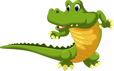 jungle green: Crocodile cartoon Illustration