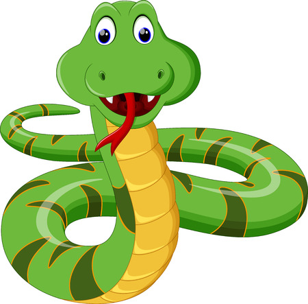 serpent: Illustration of Cartoon Snake