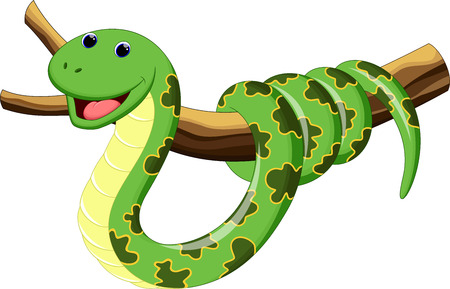 selva caricatura: Ilustración de la serpiente de la historieta