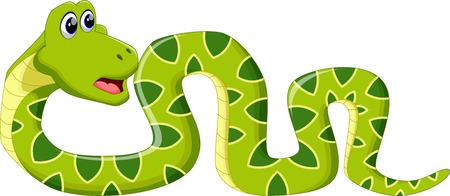 snake bite: Illustration of Cartoon Snake