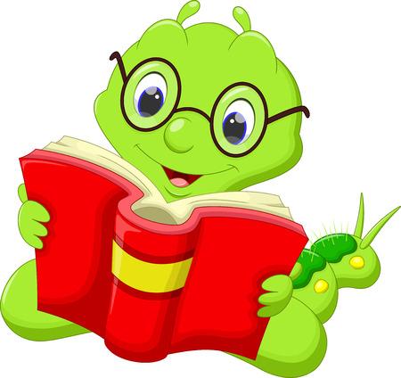oruga: Oruga de la historieta que lee un libro