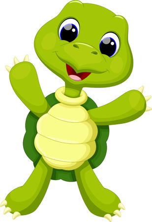 green cute: Cute turtle cartoon