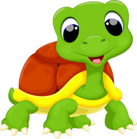 Bande dessinée mignonne de tortue Vecteurs