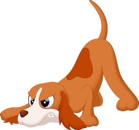 perro furioso: Dibujo animado del perro enojado