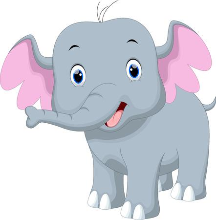 child laughing: Cute baby elephant cartoon