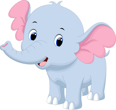Cute baby elephant cartoon