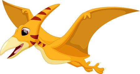 pterodactyl: Cute pterodactyl cartoon