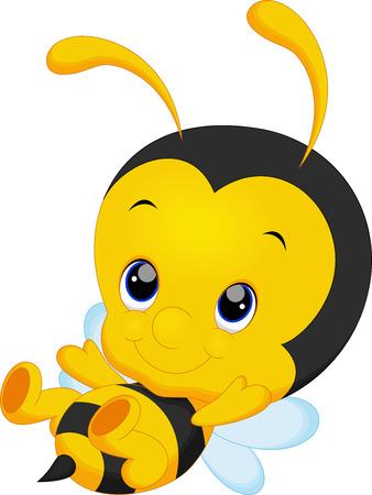 Cute little bee cartoon