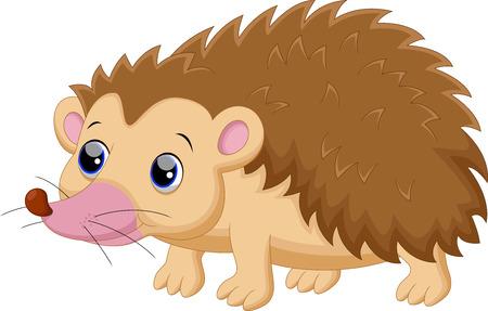 cartoon hedgehog: Cute porcupine cartoon
