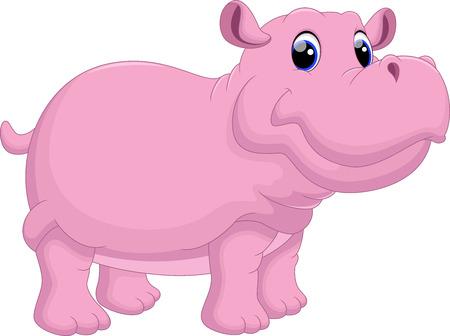 Hippo cartoon Illustration