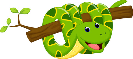 Cute snake cartoon Stock Vector - 41721961