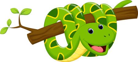 bite: Cute snake cartoon