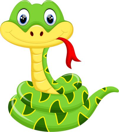 serpent: Cute snake cartoon