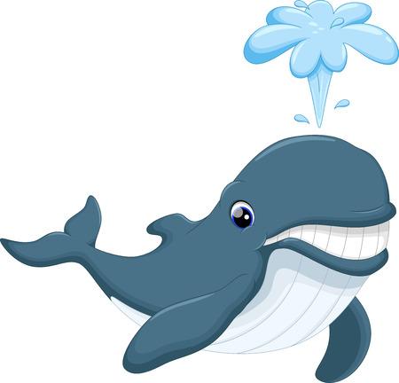 gush: Cute whale cartoon