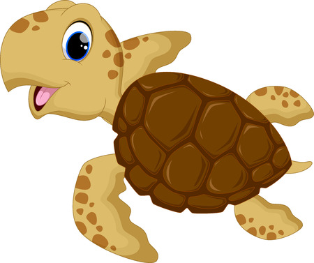 Cute baby turtles Illustration