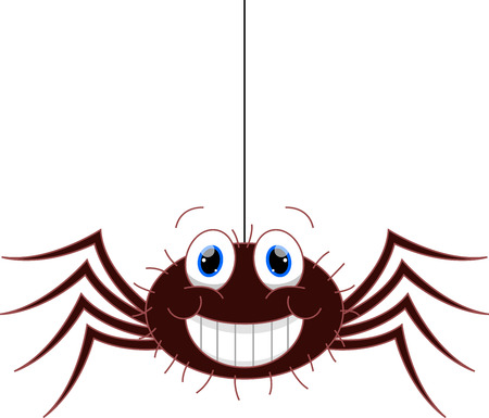 hairy legs: Funny spider cartoon