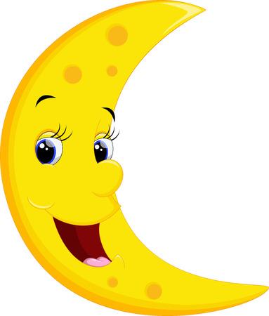 Glimlachen Maan Cartoon Stock Illustratie
