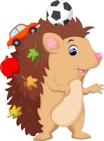 Cute cartoon hedgehog Archivio Fotografico - 41721996